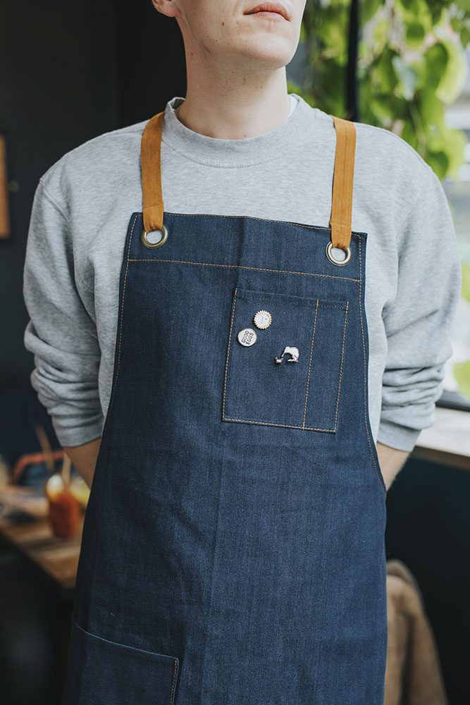 Federal Long Denim Apron